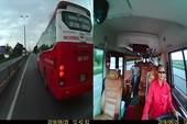 Xe khách tuyến Hà Nội - Quảng Ninh tạt đầu, chèn ép nhau