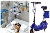 Bé trai bị vỡ thanh quản nguy kịch khi té xe trượt điện