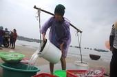 Ba bà già nghèo gánh nước biển đi bán