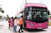 2 xe buýt 2 tầng trên đường tới Hà Nội chờ U-23 VN