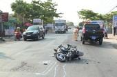 Vượt xe cảnh sát 113, đôi nam nữ nhập viện cấp cứu