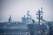 2 tàu sân bay Mỹ cùng tàu Nhật thị uy gần Triều Tiên