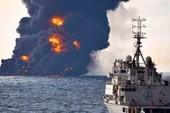 Tàu dầu phát nổ, chìm ngoài khơi Trung Quốc