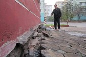 Nhiều nhà tái định cư ở Hà Nội bị lún nghiêm trọng