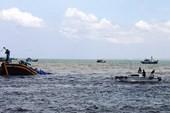 Phát hiện tàu đánh cá bị chìm trên biển Cà Mau