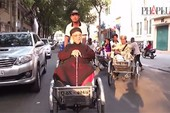 Clip GS Trần Văn Khê dạo Sài Gòn bằng xích lô nói chuyện văn hóa