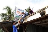 Hình ảnh người dân Cà Mau chống bão số 16