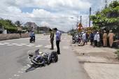 CSGT đưa nạn nhân đi cấp cứu bằng xe đặc chủng
