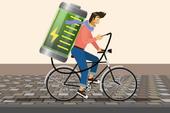 Sạc pin smartphone bằng cách đạp xe đạp