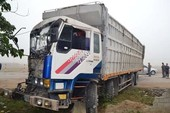 Xe tải đâm nhau, QL1A ách tắc hơn 5km