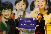 Gần 8.000 ly sữa cho trẻ em nghèo huyện đảo Lý Sơn
