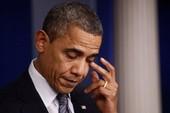 Tin dỏm Obama bị thương, Dow Jones giảm 100 điểm