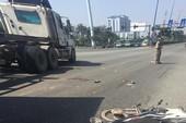 Va chạm container ở xa lộ Hà Nội, 2 người trọng thương