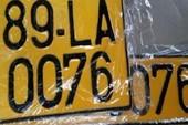 Bộ Công an 'bác' kiến nghị đổi màu biển số taxi