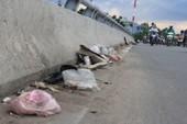Mang rác lên cả cầu vượt để vứt!