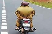Truy tìm người đi xe máy 'làm xiếc' khi xuống đèo Prenn
