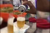 Tiger đề nghị làm rõ clip bia có cặn