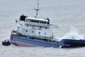 'Nghĩa địa' tàu hàng bị chìm sau bão số 12 ở Quy Nhơn