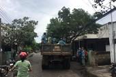 Phú Quý đã có gió to mưa lớn, nhiều cây bị quật trốc gốc