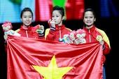 Chùm ảnh bộ 3 hotgirl Việt Nam giành HCV Taekwondo
