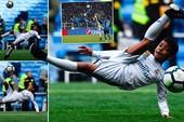 Ngộ nghĩnh khoảnh khắc Ronaldo con tái hiện siêu phẩm của cha
