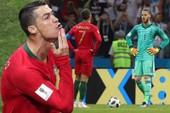 Vì sao Ronaldo vuốt cằm sau khi đánh bại De Gea trên chấm 11m?