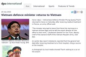 Hãng tin DPA nhận lỗi đưa tin sai về Bộ trưởng Phùng Quang Thanh