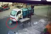 May mắn thoát chết sau khi bị xe rác cuốn vào gầm