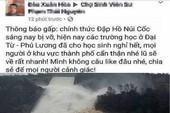Xử lý người tung tin nhảm 'vỡ đập hồ Núi Cốc'