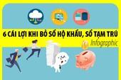 Infographic: 6 cái lợi khi bỏ sổ hộ khẩu