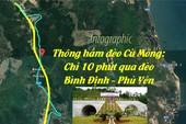 Thông hầm đèo Cù Mông: Chỉ 10 phút qua đèo Bình Định - Phú Yên