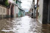 Đi thuê nhà nghỉ vì nhà vẫn ngập sâu trong nước