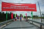 Nhịp cầu nối niềm vui người dân xã Vĩnh Trị, tỉnh Long An