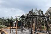 Tivi phát nổ thiêu rụi ngôi nhà vợ chồng nghèo