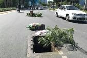 Hố ga bung nắp bẫy người đi đường ở cửa ngõ Tân Sơn Nhất