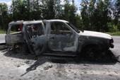 Ô tô bốc cháy trên đường nghi bị cướp