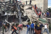 Kinh hoàng giây phút hàng loạt tòa nhà Mexico sụp đổ