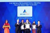 Đất Xanh vào top 150 DN tăng trưởng nhanh nhất Việt Nam