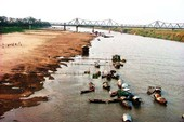 Sông Hồng nguy cấp vì khai thác cát