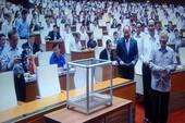 Bỏ phiếu kín miễn nhiệm hai thành viên Chính phủ