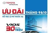 Toyota khuyến mãi lớn mua xe Vios, Innova tháng 9 và 10