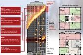 Sơ đồ tòa nhà 27 tầng ở Anh bị cháy