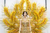 Cận cảnh quốc phục hình bông lúa của hoa hậu Trâm Lưu