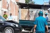 Clip người phụ nữ xây nhà sai phép, lái ô tô đâm xe đoàn kiểm tra