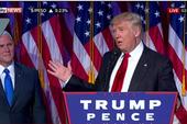 Clip: Phát biểu của ông Trump sau khi giành chiến thắng