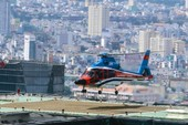 Trực thăng chở khách VIP đáp nóc khách sạn ở TP.HCM