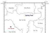 Quảng Nam: Động đất 2,7 độ Richter