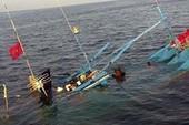 Tàu Bình Định chìm trên biển cùng 5 ngư dân
