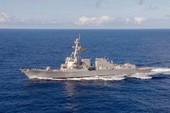 Tàu khu trục Mỹ đang tuần tra biển Đông