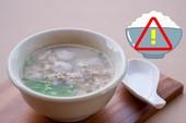Lý do không nên ăn cơm chan canh